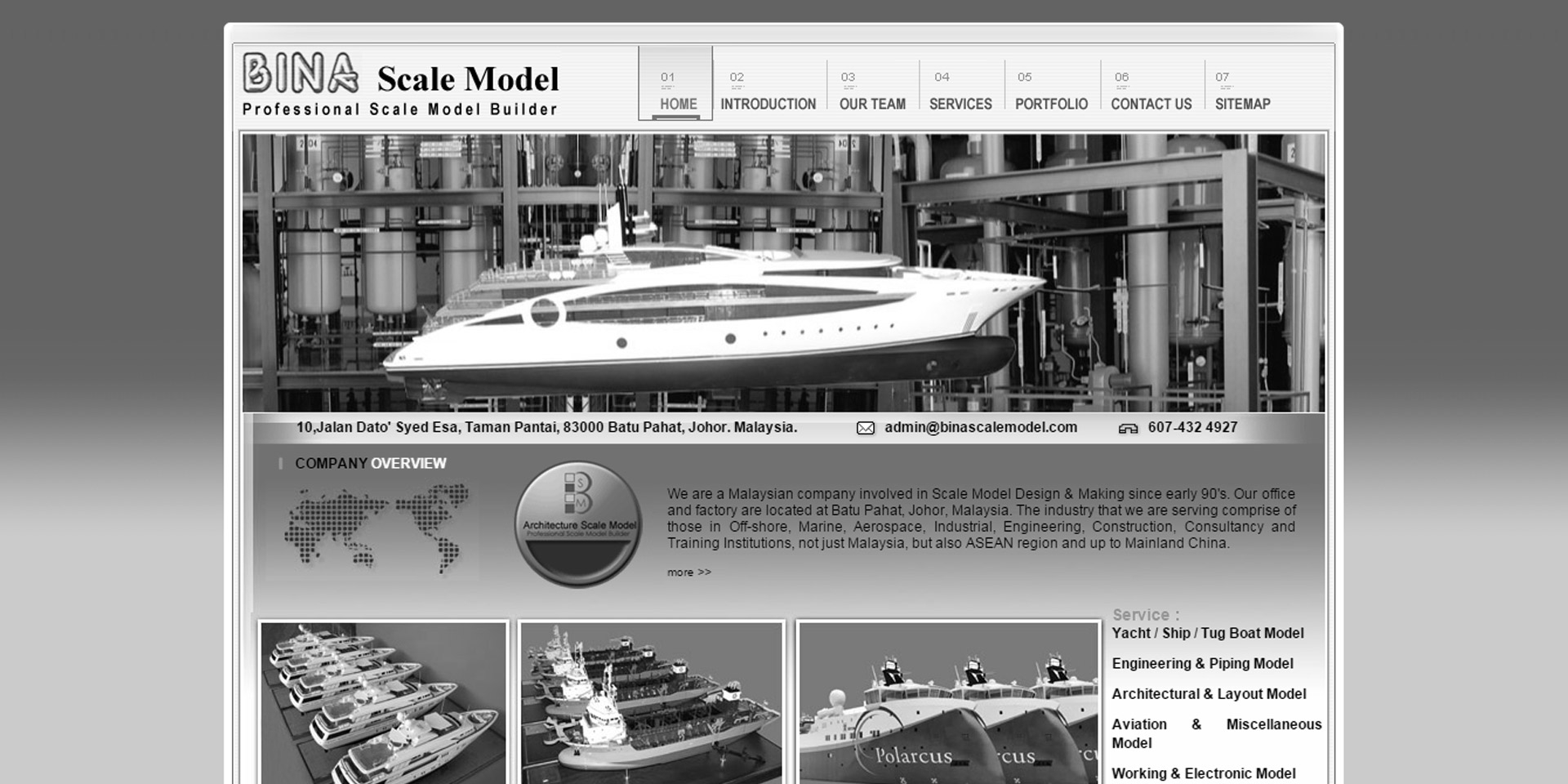 Bina Scale Model – Yacht Model & Boat Models